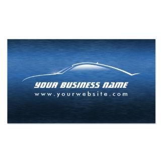 Automotive Cool Blue Car Outline Business Card