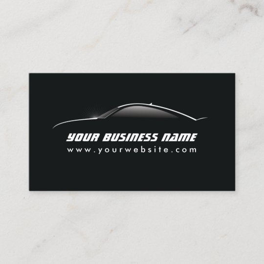 Automotive cool car outline auto repair business card zazzle automotive cool car outline auto repair business card colourmoves