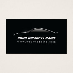 Automotive Cool Car Outline Auto Repair Business Card at Zazzle