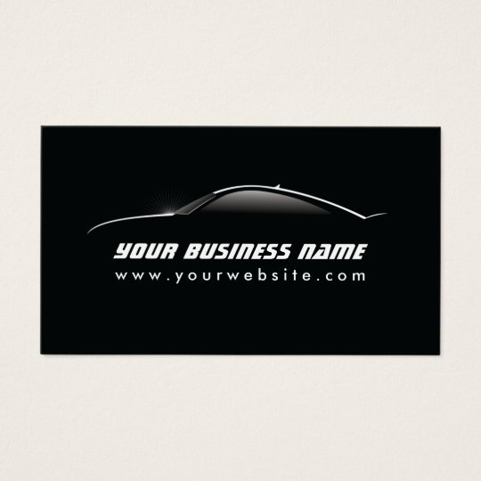 Automotive cool car outline auto repair business card zazzle automotive cool car outline auto repair business card colourmoves