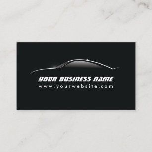 Automotive business cards 2400 automotive business card templates automotive cool car outline auto repair business card reheart Choice Image