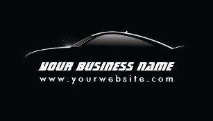 Auto repair business cards zazzle automotive cool car outline auto repair business card colourmoves