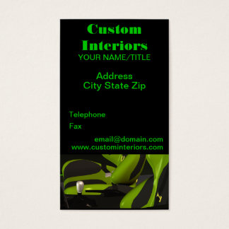Automotive Custom Interiors Business Cards