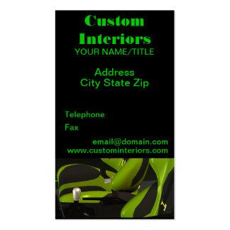 Automotive Custom Interiors Business Cards