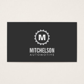 Automotive Gear Initial 2 Auto Repair, Mechanic Business Card