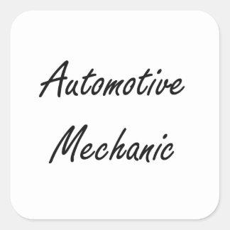 Automotive Mechanic Artistic Job Design Square Sticker