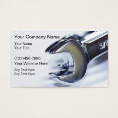 Automotive Mechanic Business Card at Zazzle