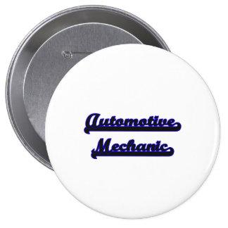 Automotive Mechanic Classic Job Design 4 Inch Round Button