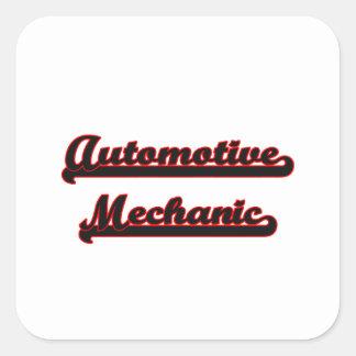 Automotive Mechanic Classic Job Design Square Sticker