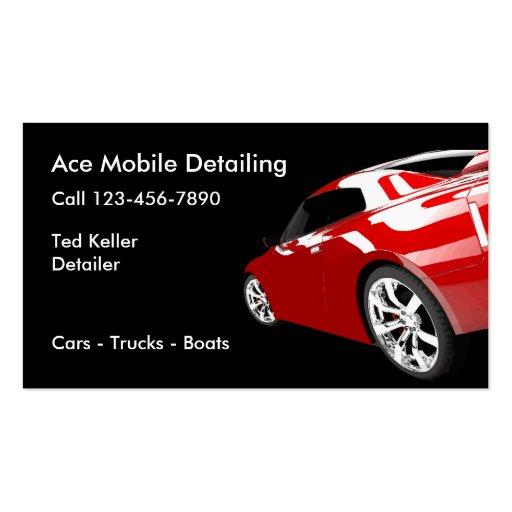 Automotive mobile detailing business cards zazzle for Mobile auto detailing business cards