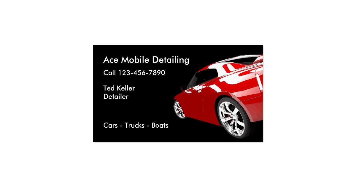 Automotive mobile detailing business cards zazzle for Mobile detailing business cards