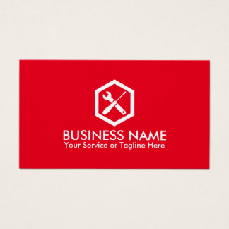 Automotive Modern Red Professional Auto Repair Business Card