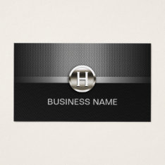 Automotive Professional Metal Monogram Auto Car Business Card at Zazzle