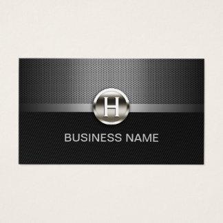 Automotive Professional Metal Monogram Auto Car Business Card