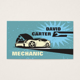 Automotive / Racing / Car Mechanic Business Card