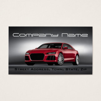Automotive Racing Red Car Speed Business Card
