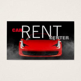 Automotive Red Car Rent Center Modern Garage Business Card