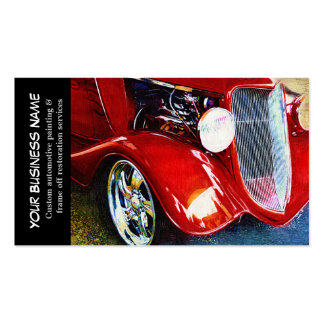 Automotive Red Classic Car Auto Painting Biz Business Card Template