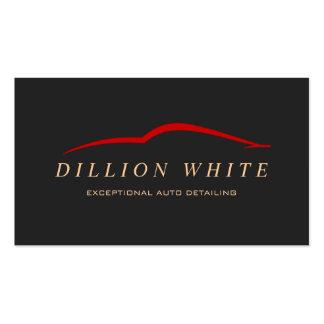 Automotive Repair, Auto Detailing, Red Car Logo Business Card