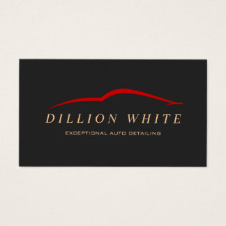 Automotive Repair, Auto Detailing, Red Car Logo Business Card
