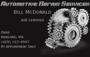 Auto repair business cards templates zazzle automotive repair business card colourmoves