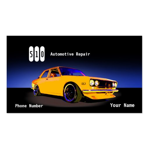 Automotive Repair Business Card Templates (front side)