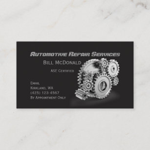 Automotive business cards 2400 automotive business card templates automotive repair business card reheart Gallery