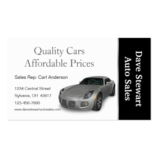 Automotive repair shop double sided standard business for Mechanic shop business cards