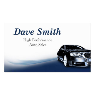 Automotive Sales & Service Double-Sided Standard Business Cards (Pack Of 100)
