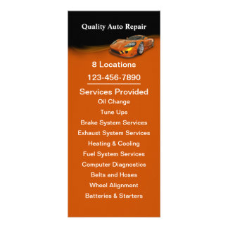 Automotive Service Rack Card