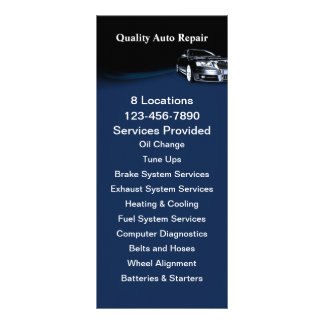 Automotive Service Rack Card Template
