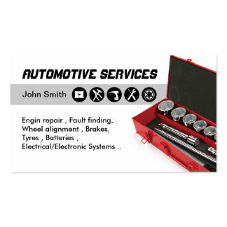 Automotive Service standard business cards