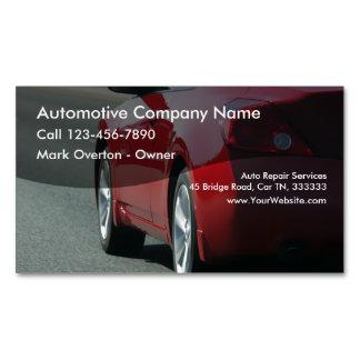Automotive Theme Business Card Magnet