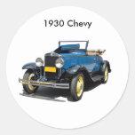 Automóvil 1930 del convertible de Chevy del Pegatina Redonda