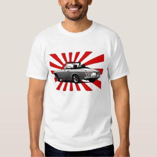 Automóvil-bandera del color remera