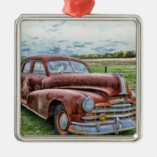 Automóvil clásico viejo oxidado del vintage del co ornamento de reyes magos