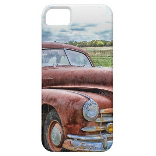 Automóvil clásico viejo oxidado del vintage del co iPhone 5 Case-Mate fundas