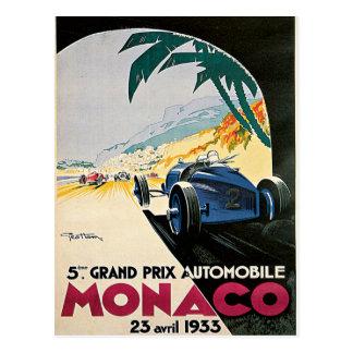 Automóvil de Mónaco Grand Prix Postal