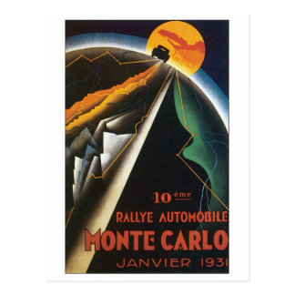 Automóvil de Monte Carlo Rallye, Janvier 1931 Tarjetas Postales