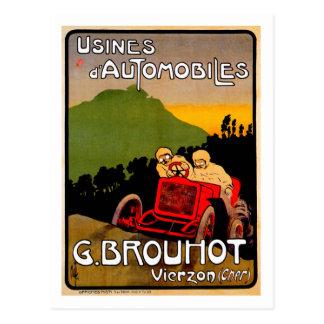 Automóvil de París Francia del vintage del ~ de G. Tarjeta Postal