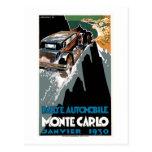 Automóvil de Rallye Tarjeta Postal