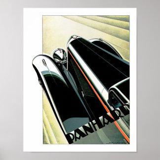Automóvil del art déco póster