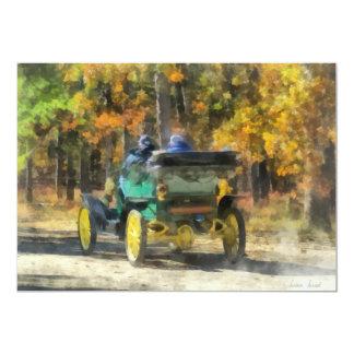 Automóvil del vapor de Stanley Invitación 12,7 X 17,8 Cm