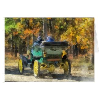 Automóvil del vapor de Stanley Tarjeta De Felicitación