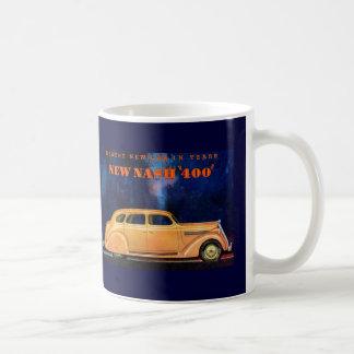 Automóvil del vintage del ~ de Nash 400/anuncio de Taza