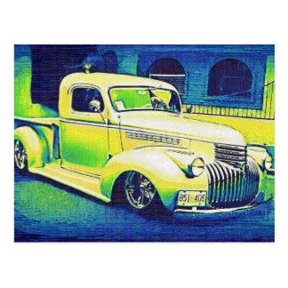 Automóvil del vintage del Lowrider Postal