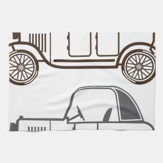 Automóvil del vintage toallas de mano