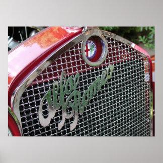 Automóvil descubierto 1929 de Alfa Romeo 1750 Posters