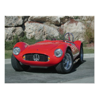 Automóvil descubierto 1955 de Maserati A6GC5 Posters