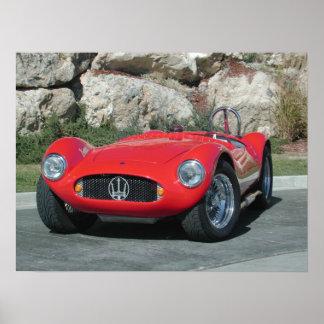 Automóvil descubierto 1955 de Maserati A6GC5 Póster